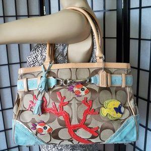 Rare COACH Ltd Ed #1490 Large Carryall Bag Purse